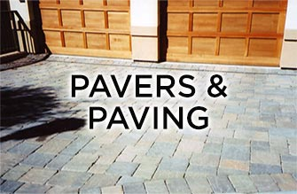 pavers and concrete paving