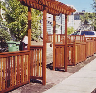 new fencing and arbor installation